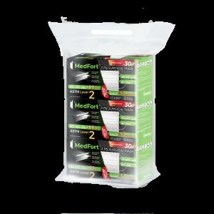 MedFort® 醫堡® 一次性外科口罩(30片獨立包裝) 3包裝 免費送貨 (送貨範圍只包括香港島、九龍、新界及愉景灣、機場、東涌)