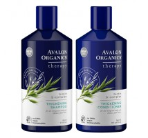 Avalon Organics強根健髮防脫髮洗髮露及護髮素 (套裝) - 生物素 & 維他命B群 14 fl oz