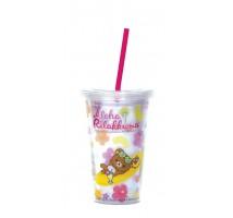 鴻福堂輕鬆小熊隨行杯-透明版